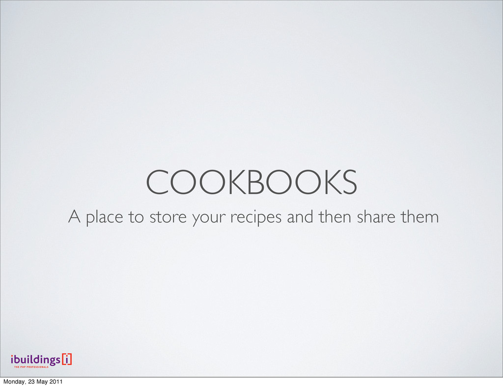 COOKBOOKS A place to store your recipes and the...