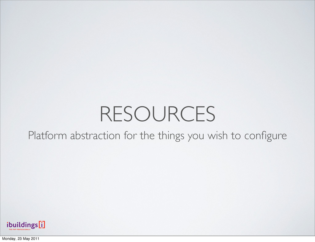 RESOURCES Platform abstraction for the things y...