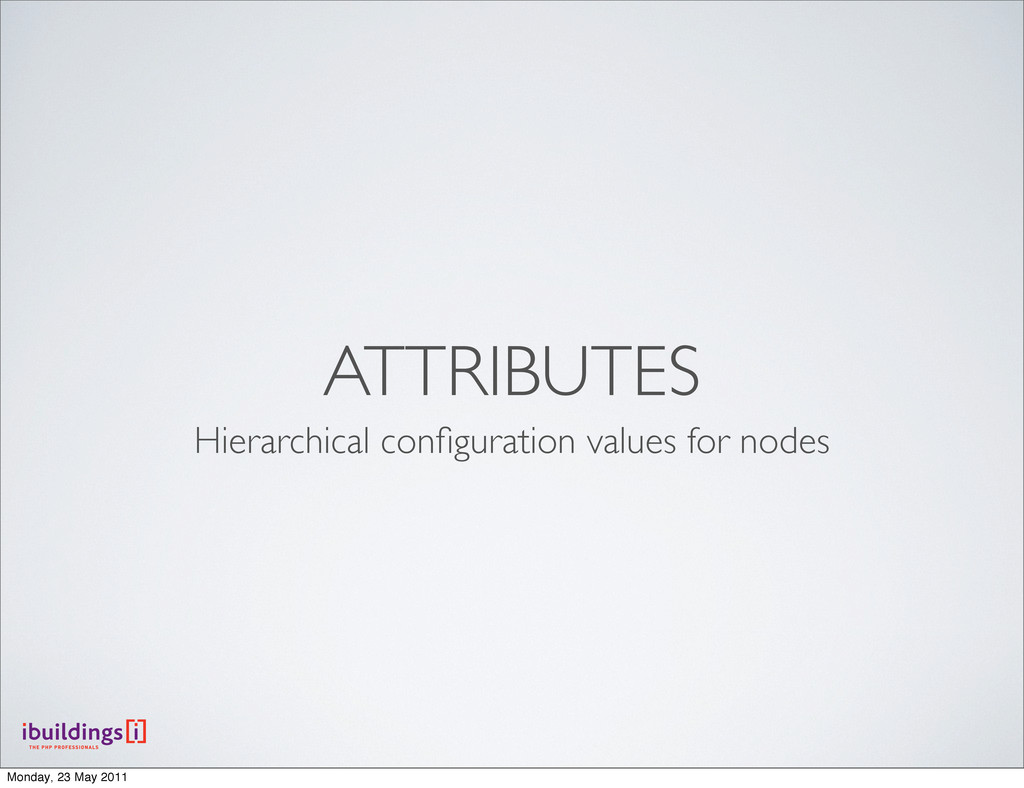 ATTRIBUTES Hierarchical configuration values for...