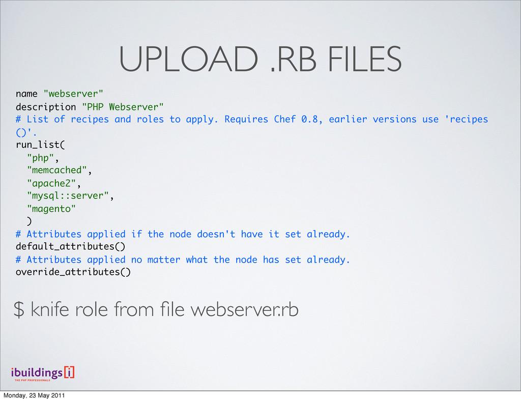 """UPLOAD .RB FILES name """"webserver"""" description """"..."""