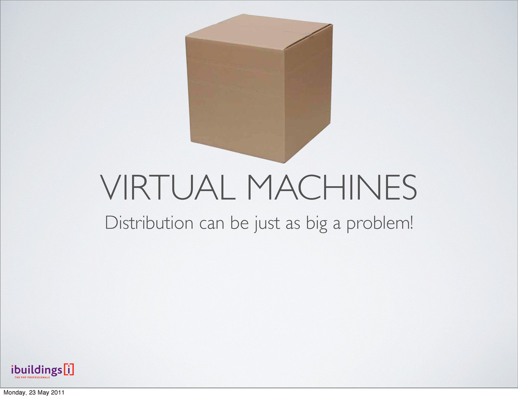VIRTUAL MACHINES Distribution can be just as bi...