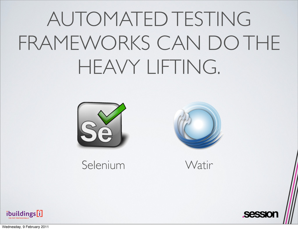 AUTOMATED TESTING FRAMEWORKS CAN DO THE HEAVY L...