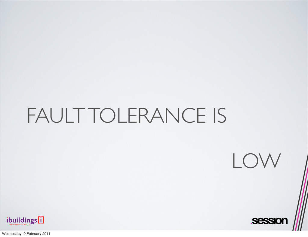 FAULT TOLERANCE IS LOW Wednesday, 9 February 20...