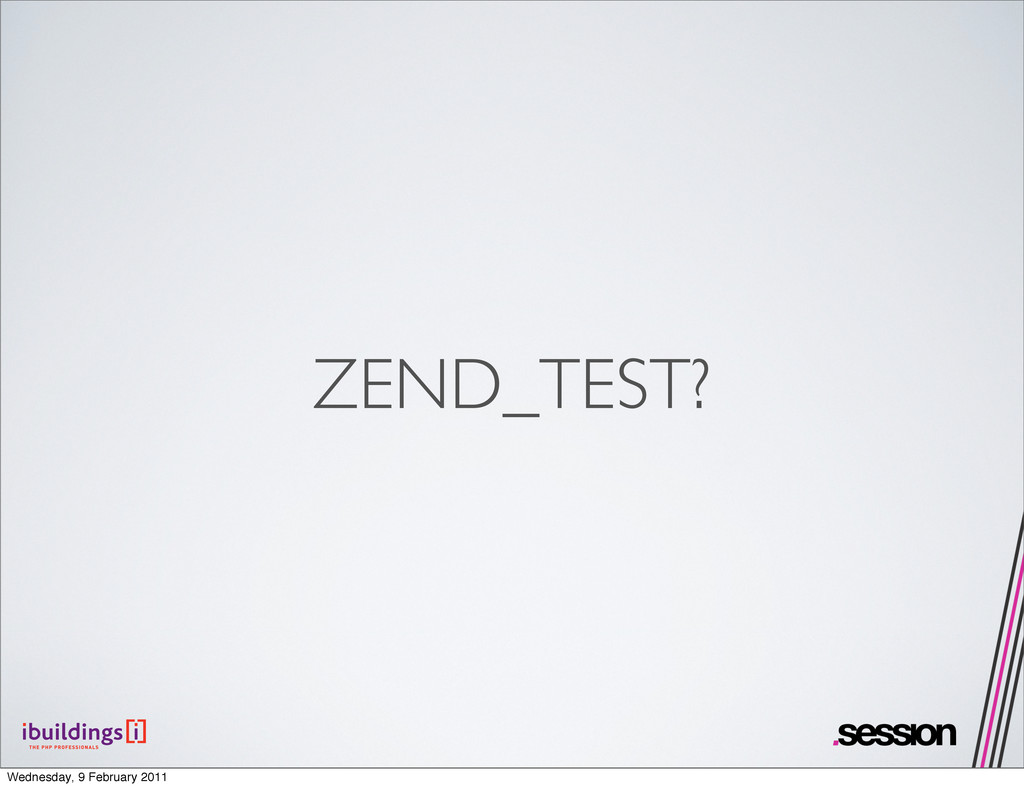 ZEND_TEST? Wednesday, 9 February 2011