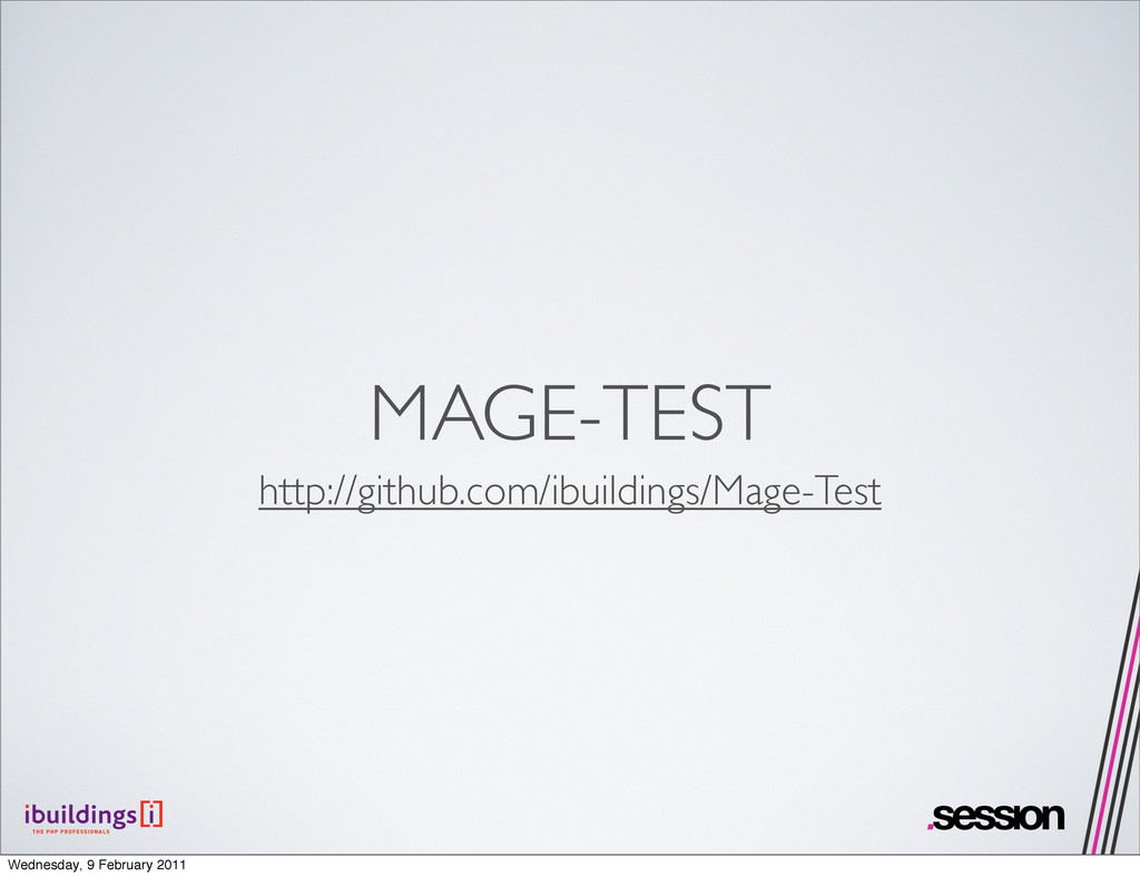 MAGE-TEST http://github.com/ibuildings/Mage-Tes...