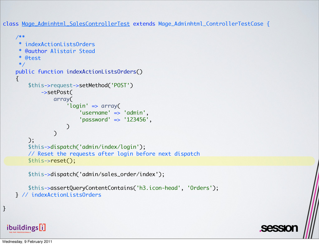 class Mage_Adminhtml_SalesControllerTest extend...