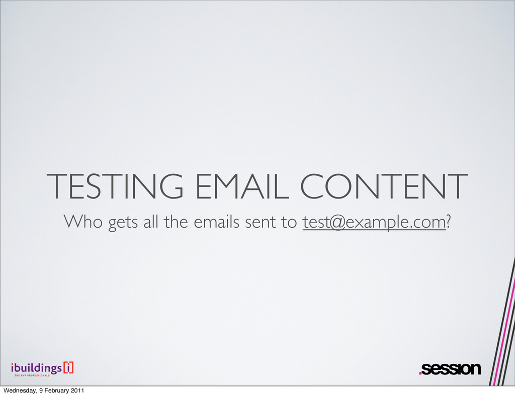 TESTING EMAIL CONTENT Who gets all the emails s...