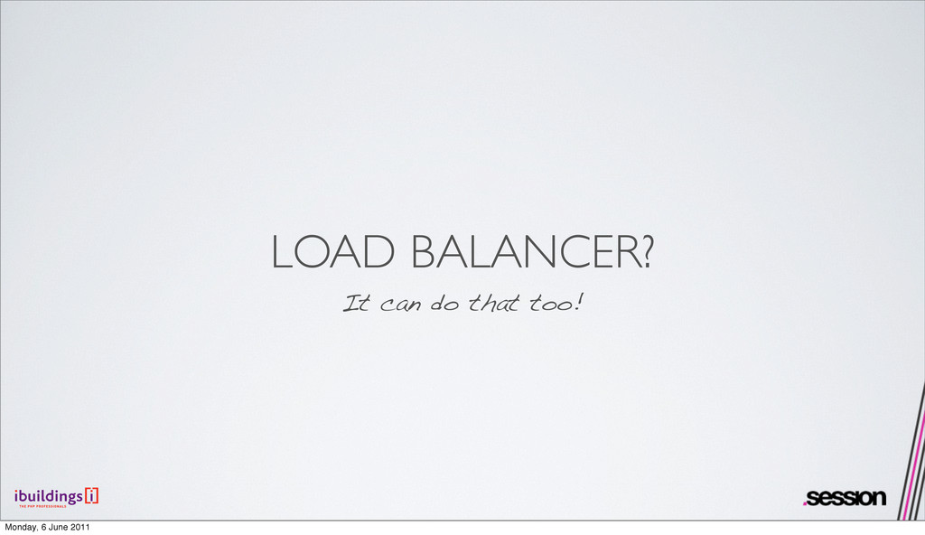 LOAD BALANCER? It can do that too! Monday, 6 Ju...