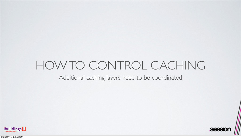 HOW TO CONTROL CACHING Additional caching layer...