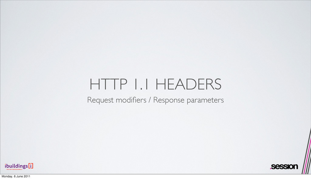 HTTP 1.1 HEADERS Request modifiers / Response pa...