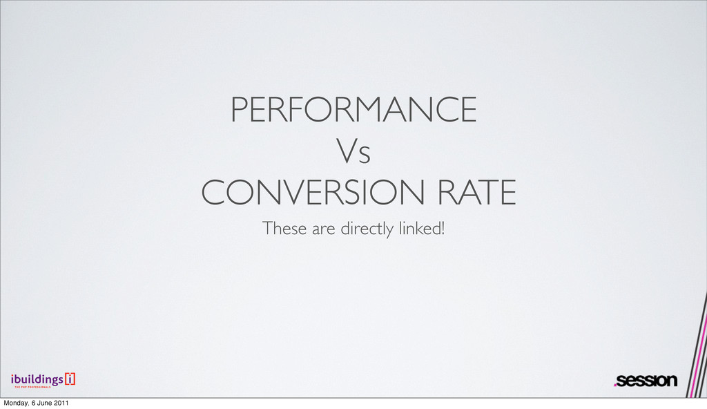 PERFORMANCE Vs CONVERSION RATE These are direct...