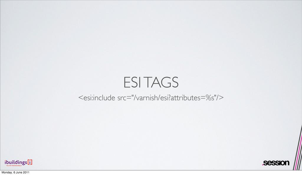 "ESI TAGS <esi:include src=""/varnish/esi?attribu..."