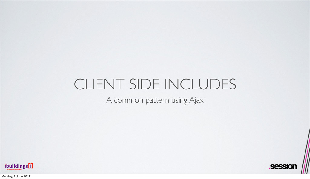 CLIENT SIDE INCLUDES A common pattern using Aja...