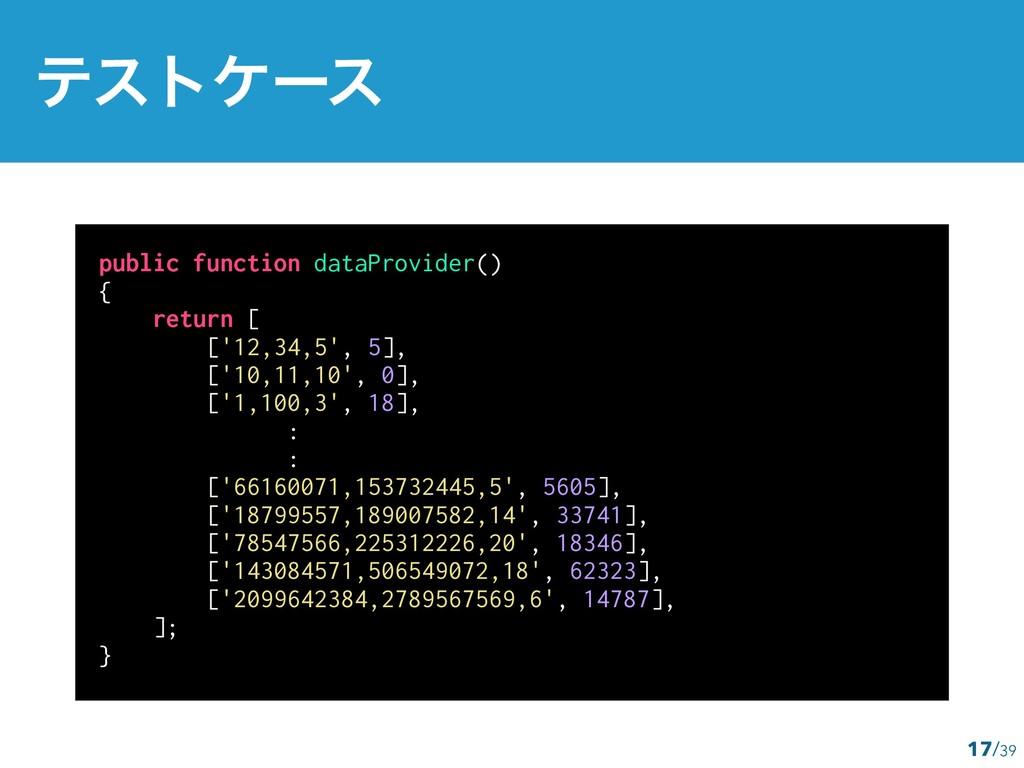public function dataProvider() { return [ ['12,...