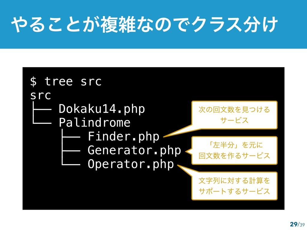 $ tree src src ├── Dokaku14.php └── Palindrome ...