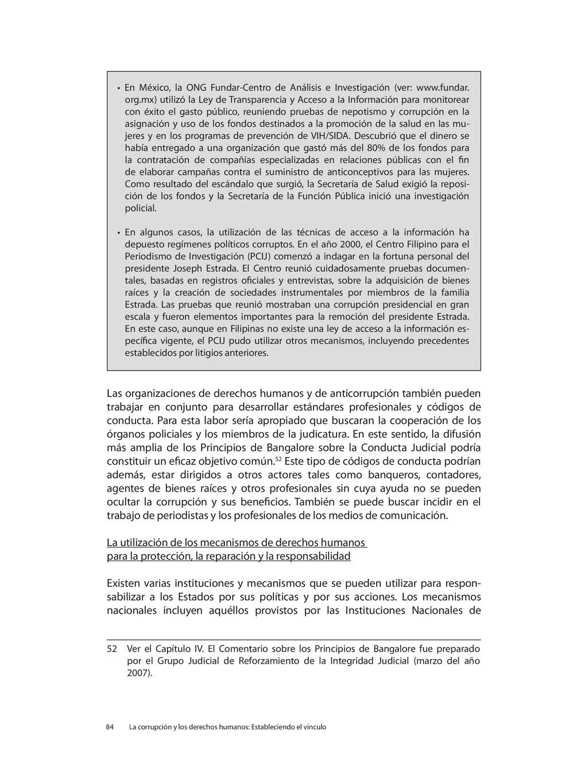 Las organizaciones de derechos humanos y de ant...