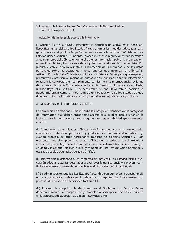 3. El acceso a la información según la Convenci...