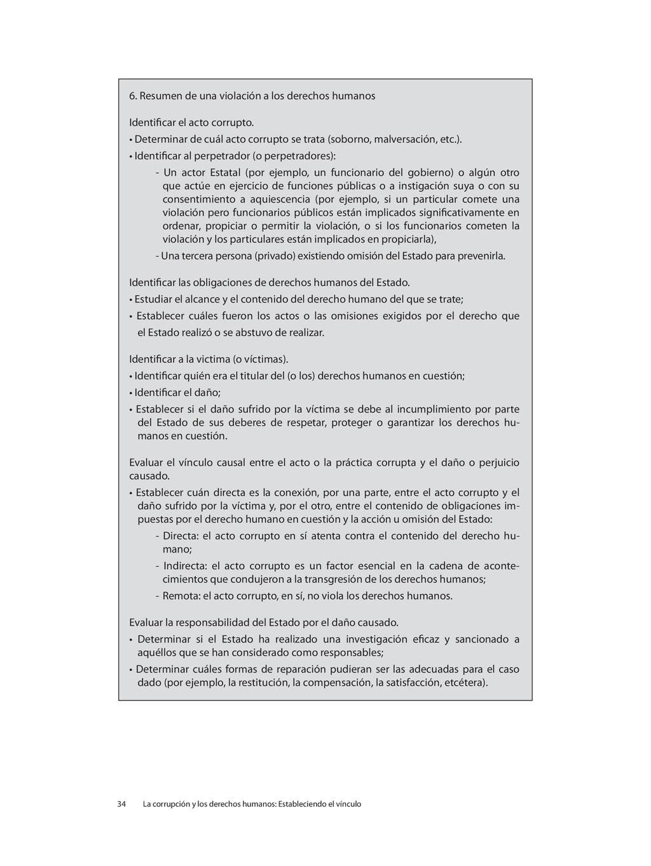 6. Resumen de una violación a los derechos huma...