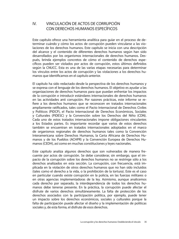 IV. VINCULACIÓN DE ACTOS DE CORRUPCIÓN CON DERE...