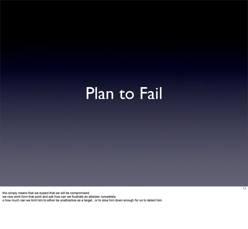Plan to Fail 11 this simply means that we expec...