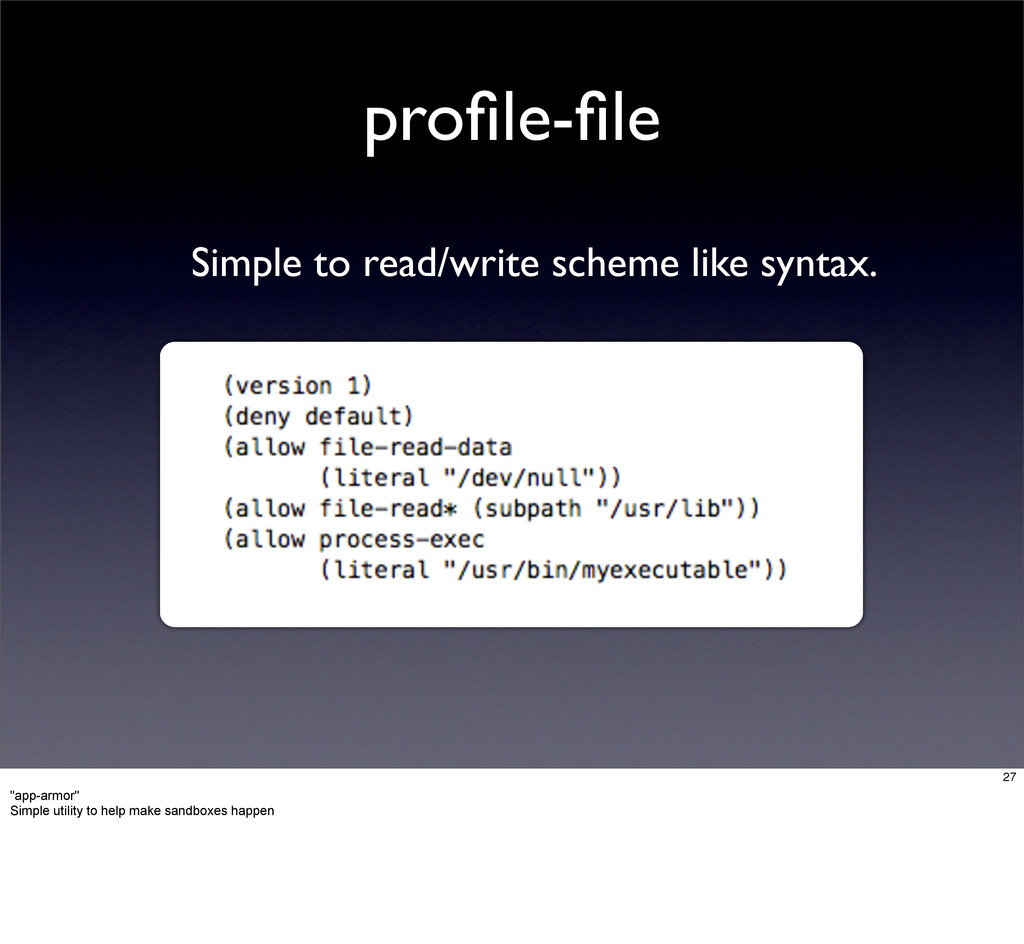 profile-file Simple to read/write scheme like syn...