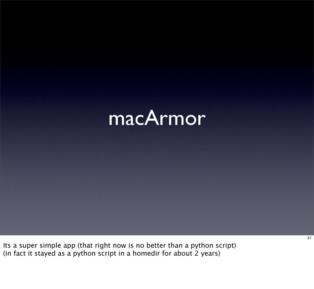 macArmor 31 Its a super simple app (that right ...