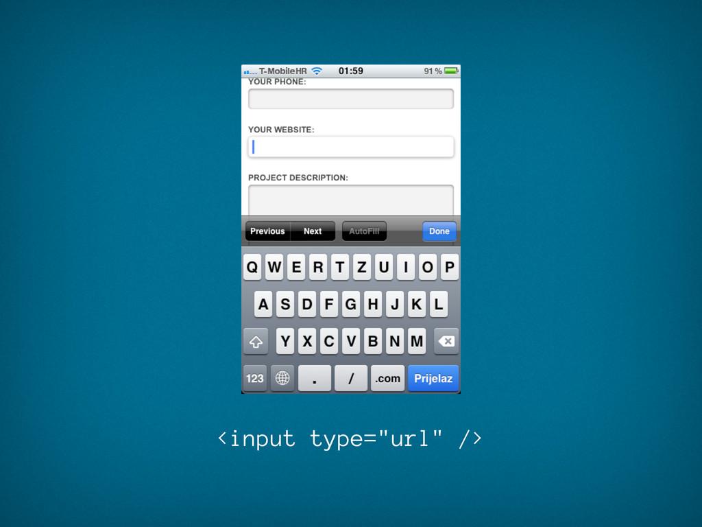 """<input type=""""url"""" />"""