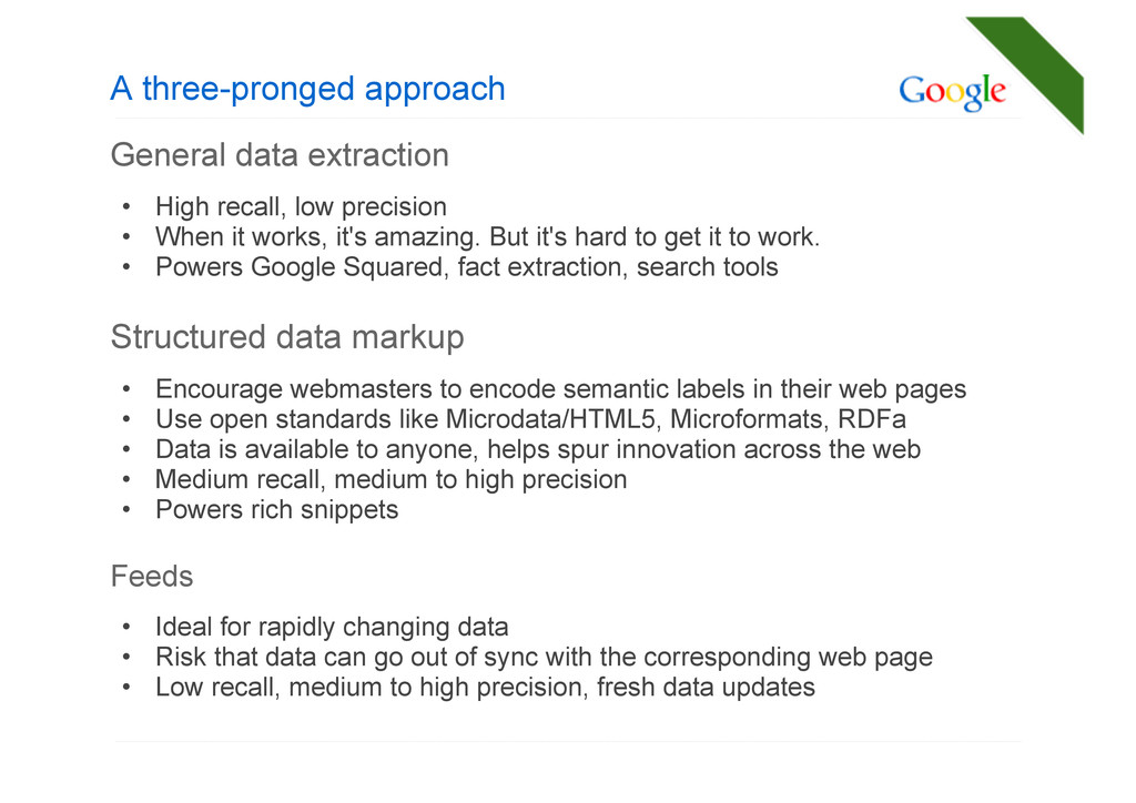 A three-pronged approach General data extractio...