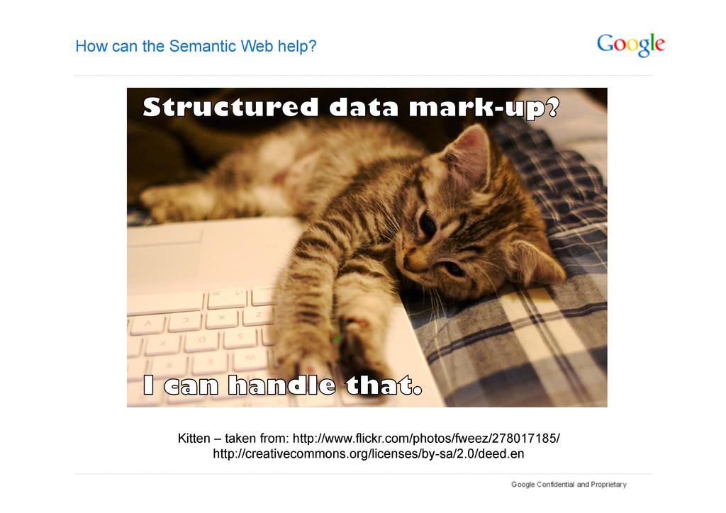How can the Semantic Web help? Kitten – taken f...