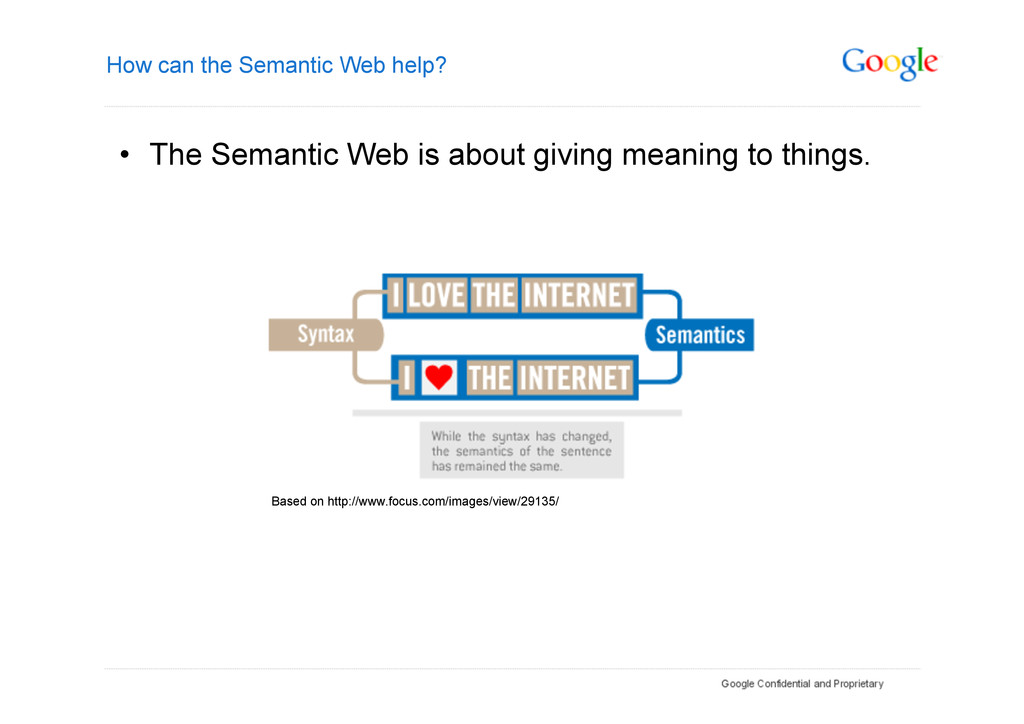 How can the Semantic Web help? • The Semantic ...