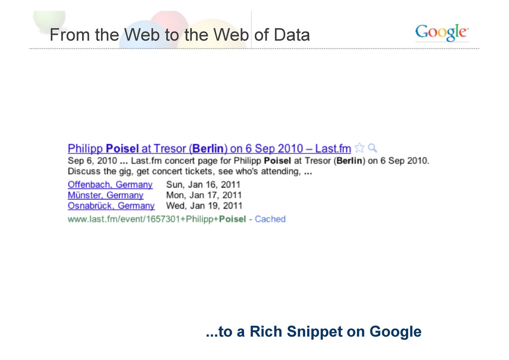 From the Web to the Web of Data ...to a Rich Sn...