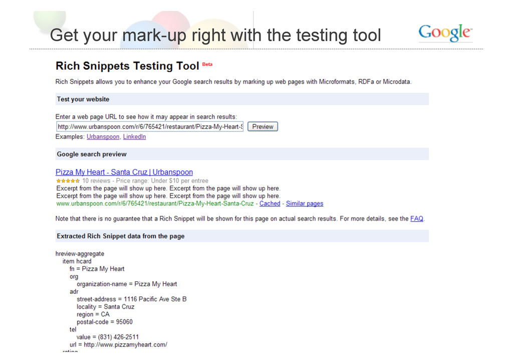 Get your mark-up right with the testing tool