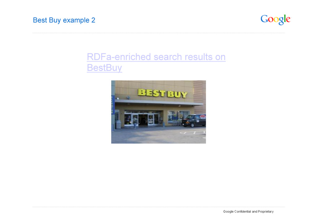 Best Buy example 2 RDFa-enriched search results...