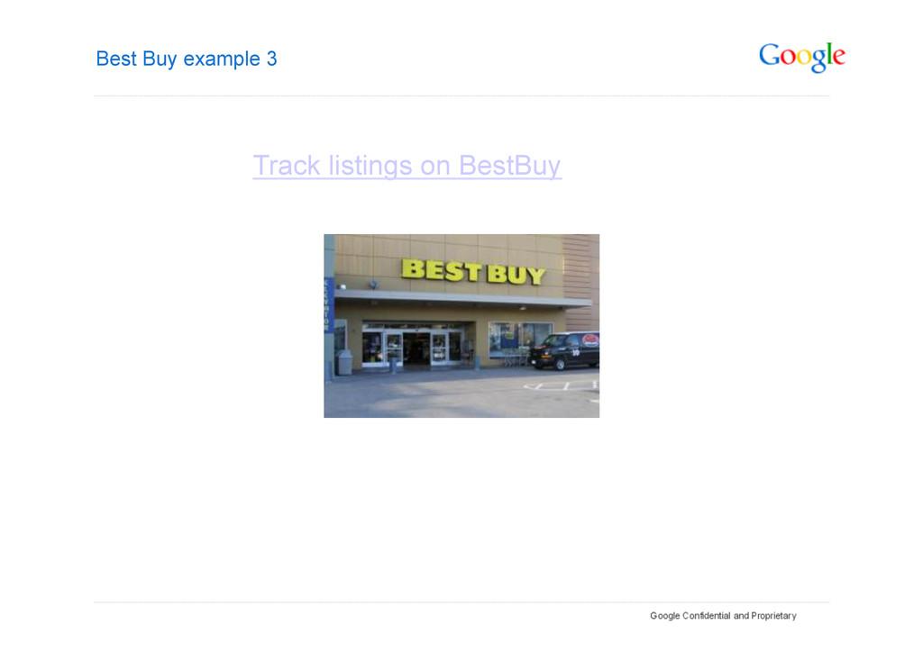 Best Buy example 3 Track listings on BestBuy