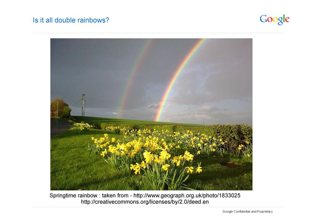 Is it all double rainbows? Springtime rainbow :...
