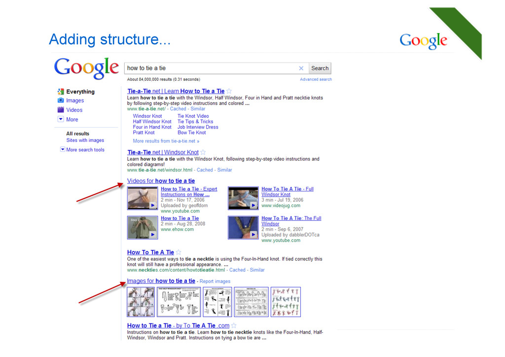 Adding structure...