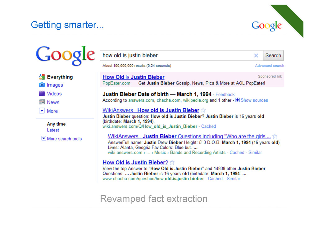 Getting smarter... Revamped fact extraction