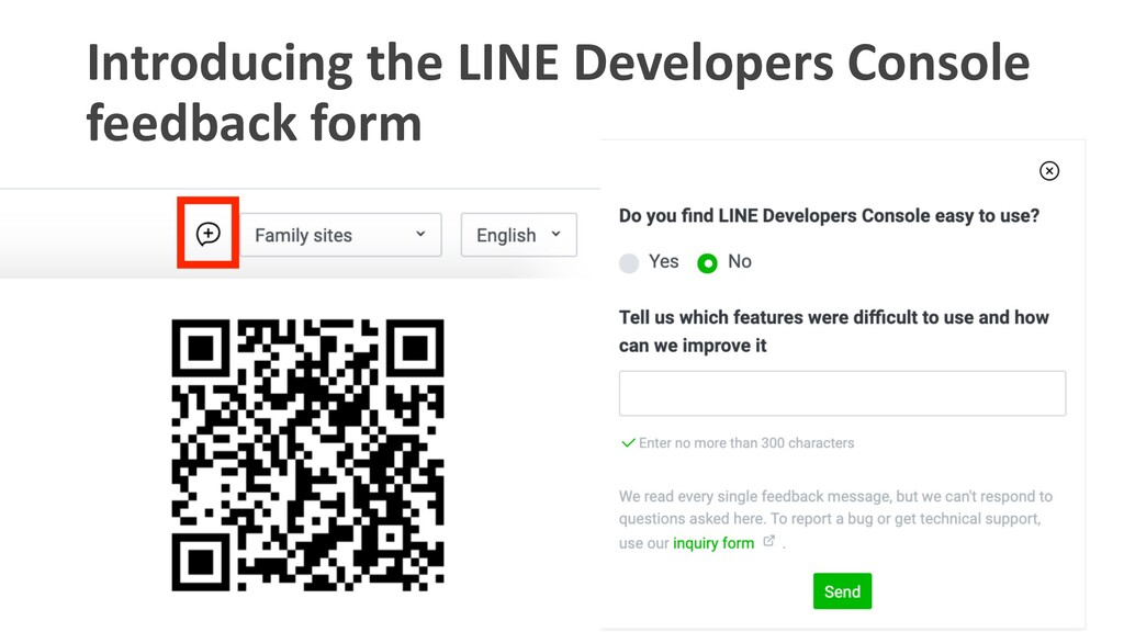Introducing the LINE Developers Console feedbac...