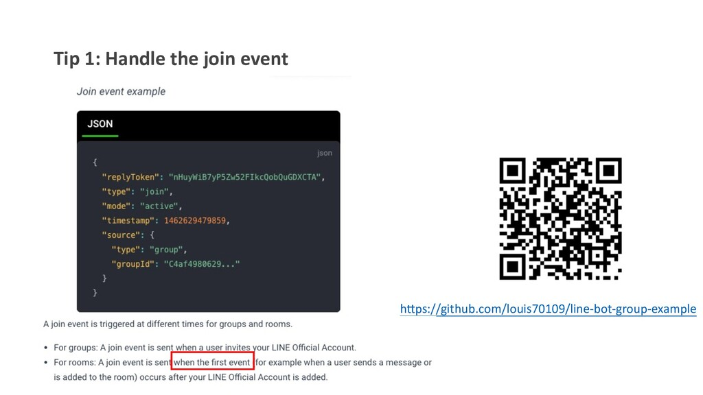 """Tip 1: Handle the join event h""""ps://github.com/..."""