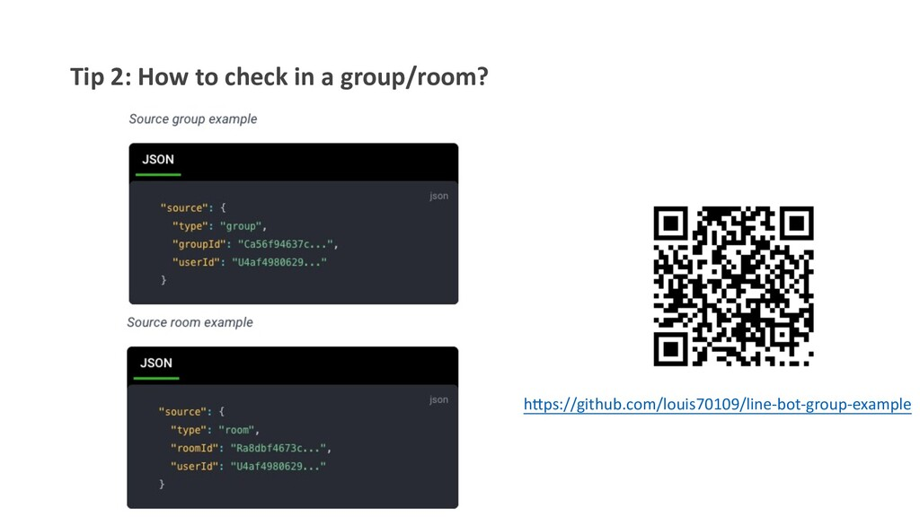 """Tip 2: How to check in a group/room? h""""ps://git..."""