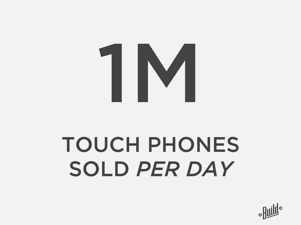 1M TOUCH PHONES SOLD PER DAY