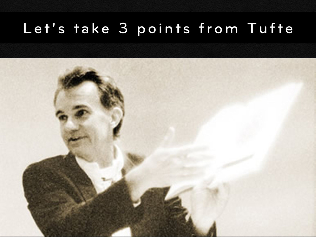 Let's take 3 points from Tufte