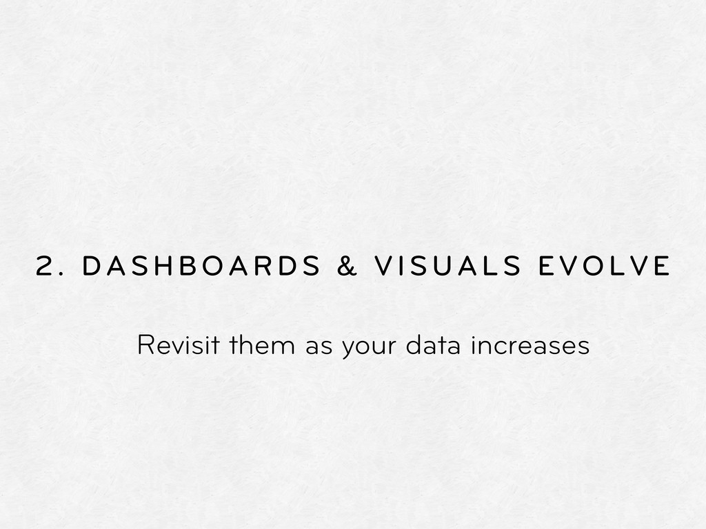 2. DASHBOARDS & VISUALS EVOLVE Revisit them as ...