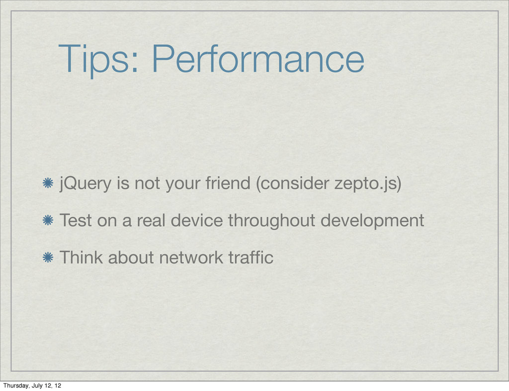 Tips: Performance jQuery is not your friend (co...