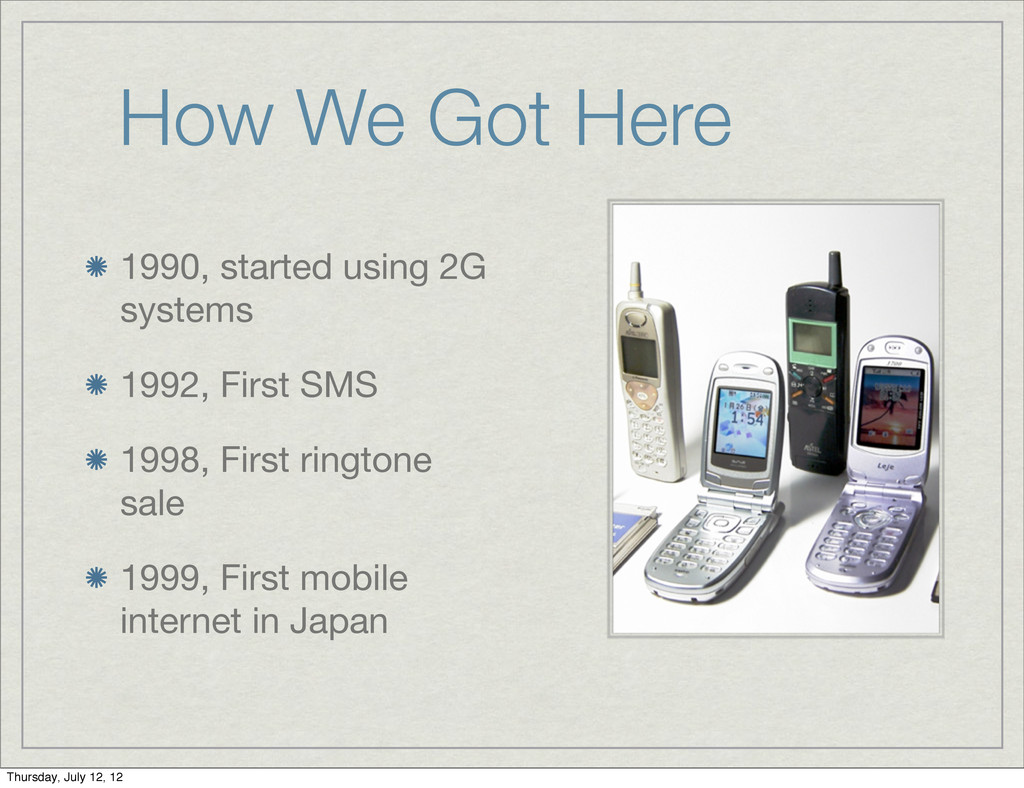 How We Got Here 1990, started using 2G systems ...