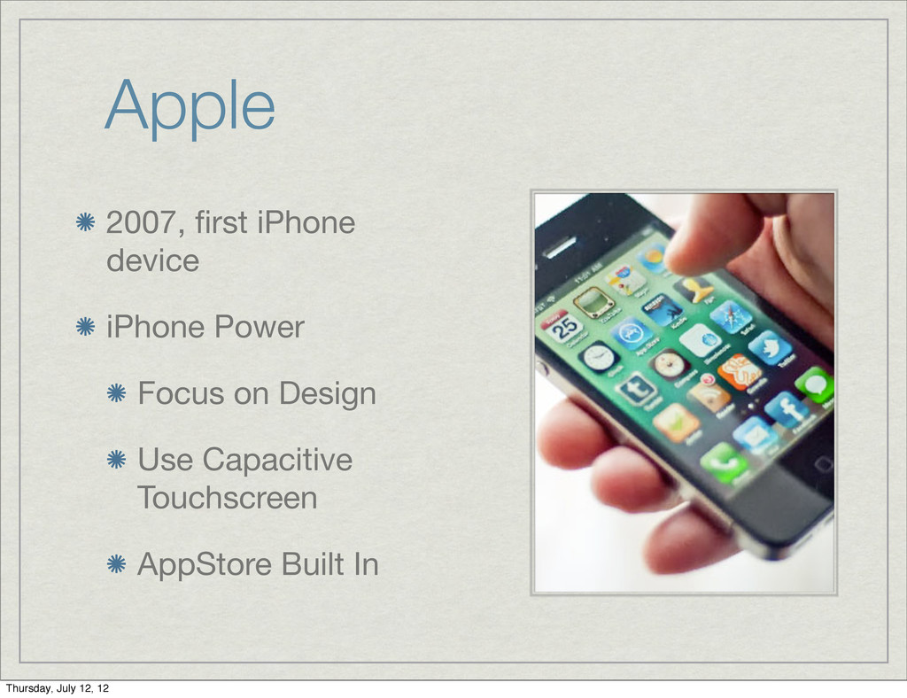 Apple 2007, first iPhone device iPhone Power Foc...