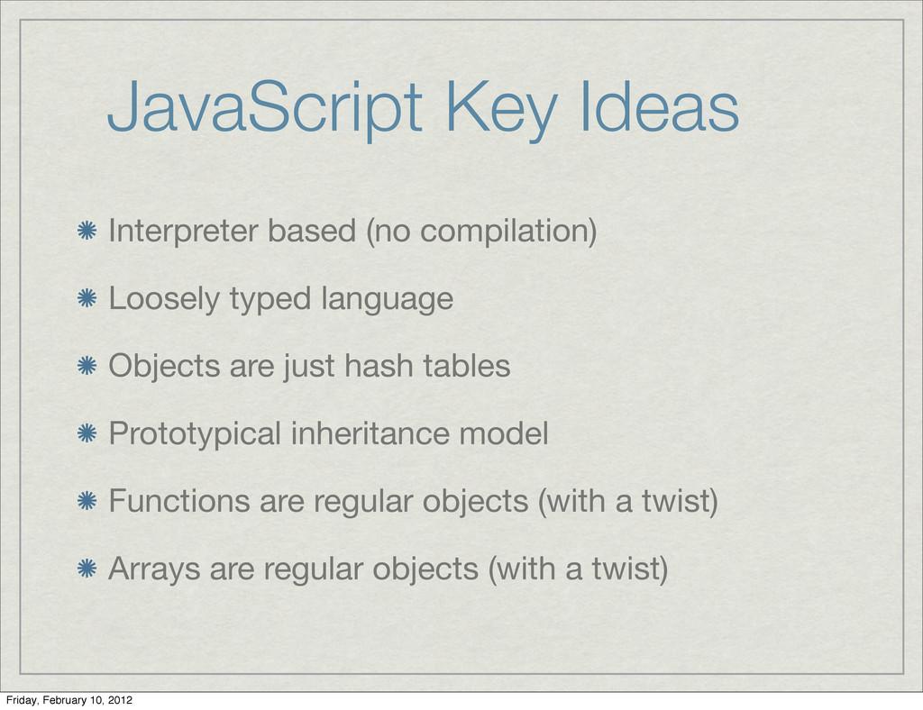 JavaScript Key Ideas Interpreter based (no comp...