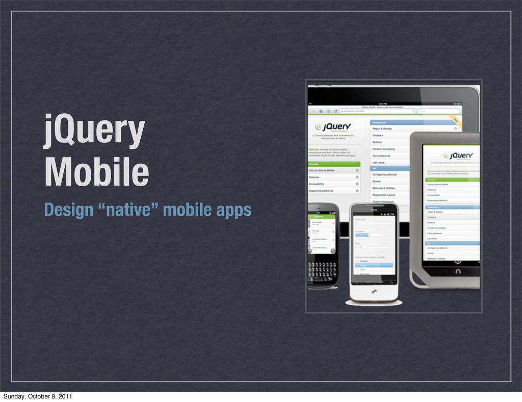 "jQuery Mobile Design ""native"" mobile apps Sunda..."