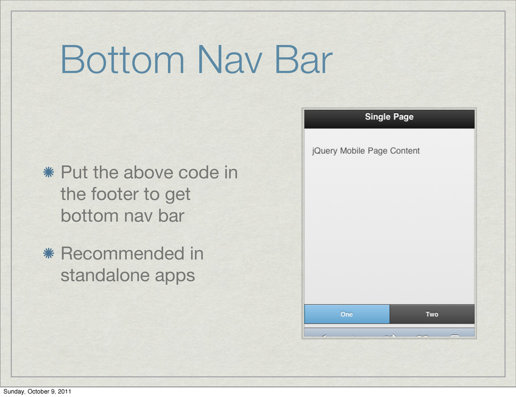 Bottom Nav Bar Put the above code in the footer...