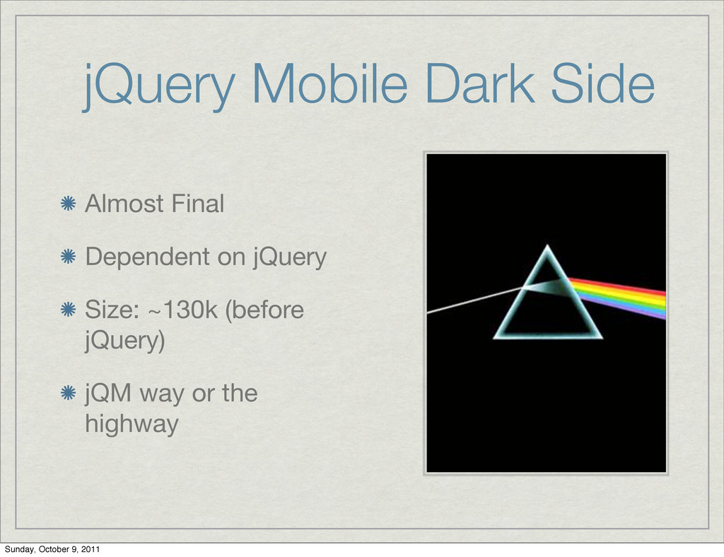 jQuery Mobile Dark Side Almost Final Dependent ...